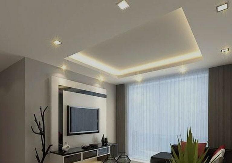 نورپردازی سقف با چراغ هالوژنی