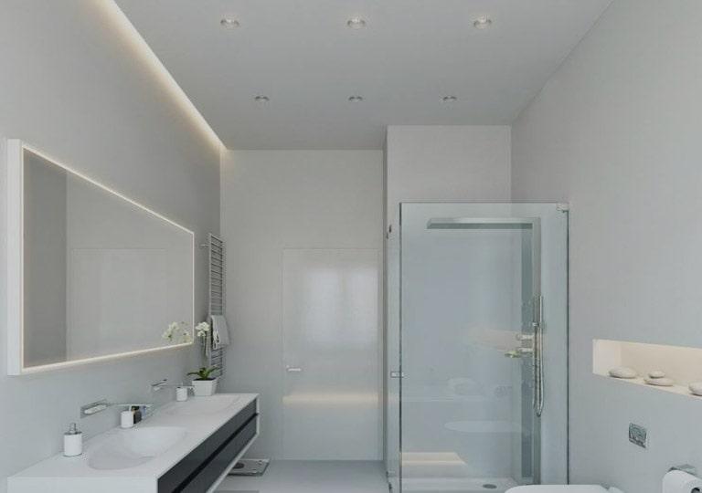 نور مخفی در حمام