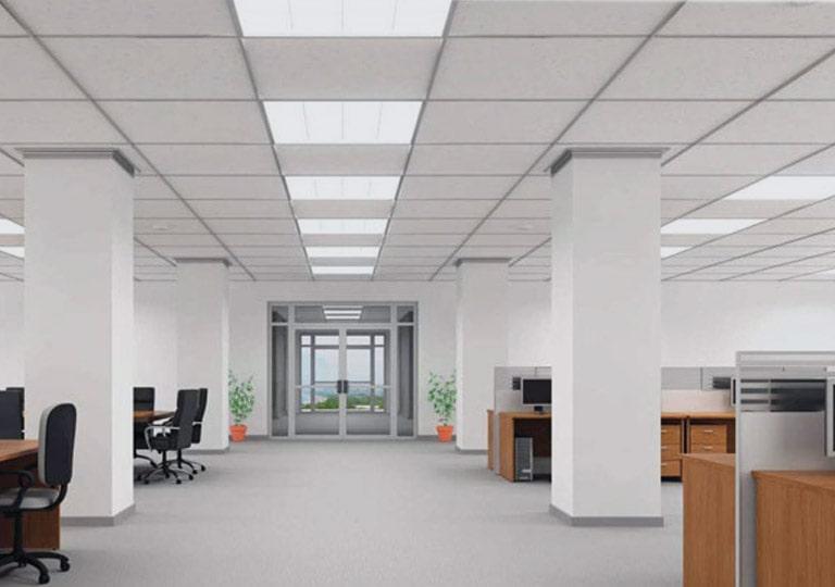 نورپردازی سقف ساختمان اداری