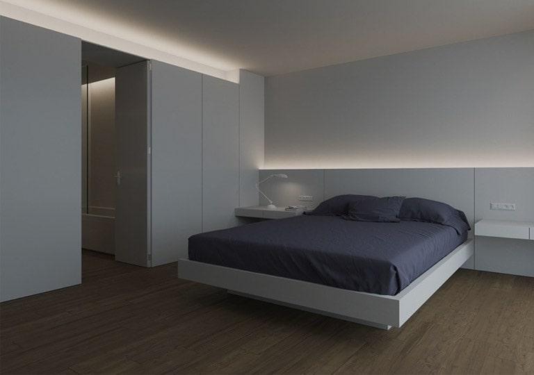 نورپردازی حاشیه اتاق خواب