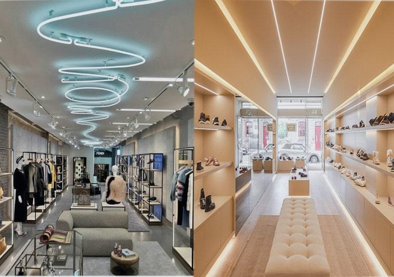 جدید ترین سبک نورپردازی سقف مغازه