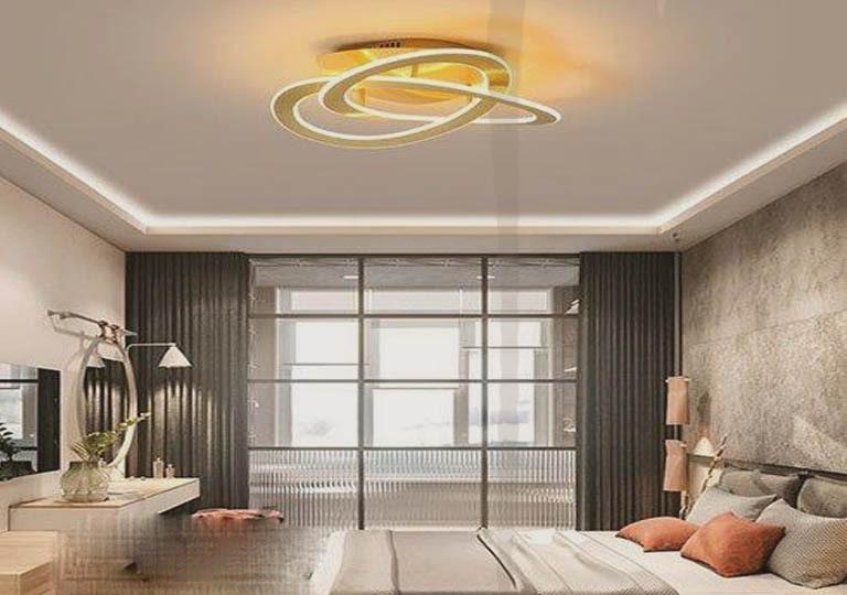 استفاده از نور مخفی و لوستر در اتاق خواب